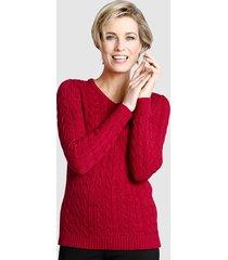 tröja med flätmönster dress in röd