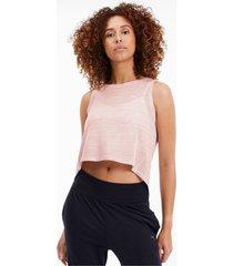 studio crop lace tanktop voor dames, roze/aucun, maat xl | puma