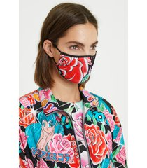 maría escoté flower mask + case - black - u