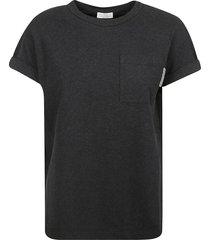 brunello cucinelli pocket chest detail t-shirt