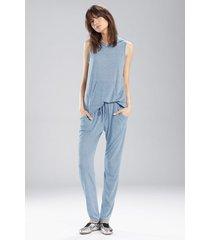 josie heather tees kangaroo pants pajamas / sleepwear / loungewear, women's, blue, size xl natori