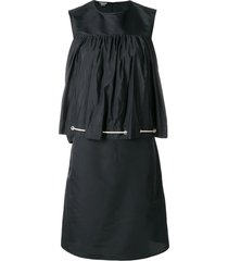 calvin klein 205w39nyc drawstring smock dress - black