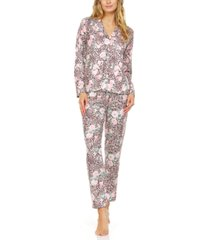 flora by flora nikrooz lucia mixed print pajamas set