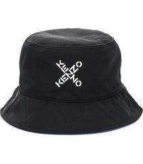 kenzo bucket hat with cross logo