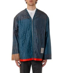 oamc multicolor silk padded jacket