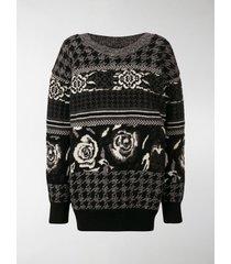 junya watanabe jacquard knit sweater