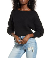 women's leith dolman sleeve pullover, size large - black
