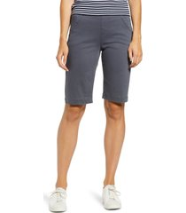 women's liverpool lacie bermuda shorts, size 8 - grey