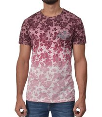 camiseta cuello redondo sak denim/ 25034-16 de flores café