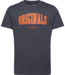 jorhart tee ss crew neck ltn t-shirts short-sleeved blå jack & j s
