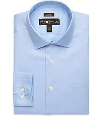 pronto uomo blue queen's oxford slim fit non-iron dress shirt
