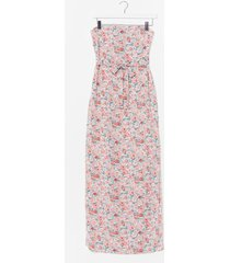 womens i bring you flowers bandeau maxi dress - white