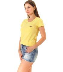 camiseta opera rock t-shirt amarela - amarelo - feminino - algodã£o - dafiti