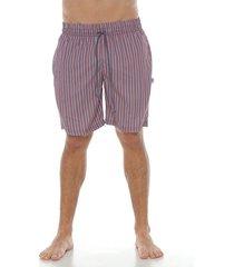 pantaloneta urbana larga sublimada,  color rojo para hombre