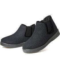 uomini comodo peluche fodera scarpe faux suede boots