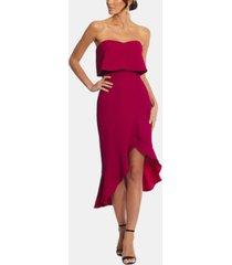 xscape petite ruffled high-low dress