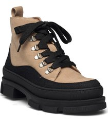 boots - flat - with laces shoes boots ankle boots ankle boot - flat svart angulus