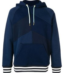 acne studios patchwork hooded sweatshirt - blue