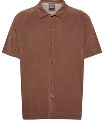 albin poloshirt s-s kortärmad skjorta brun oscar jacobson