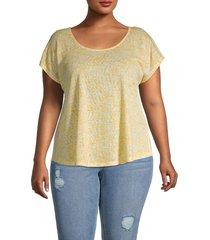 bobeau women's plus crossback t-shirt - orange spa - size 3x (22-24)