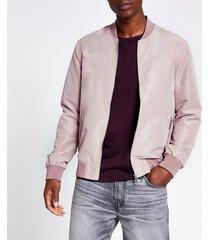 river island mens light pink bomber jacket