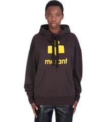 isabel marant étoile mansel sweatshirt in black cotton