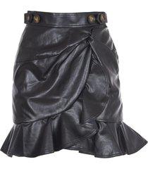 self-portrait black skirt