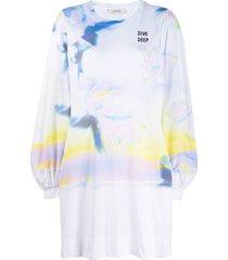 dorothee schumacher blurred-print jersey dress - white