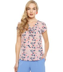 blusa ash rosa - calce regular