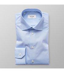 eton heren overhemd licht poplin ruit contemporary fit