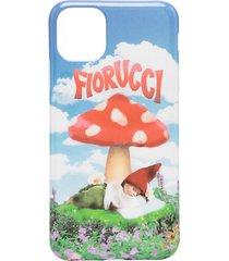 fiorucci mushroom print iphone 11 pro max case - blue