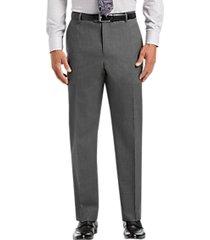 joseph & feiss gray classic fit pleated dress pants