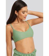 na-kd swimwear bohoo bikini top - green