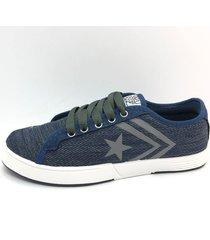 zapatilla azul one foot estrella