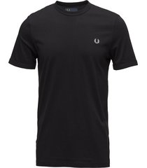 ringer t-shirt t-shirts short-sleeved svart fred perry