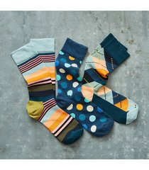 life in color socks, set of 3
