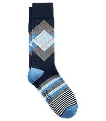 travel tech argyle & stripe mid-calf socks, 1-pair