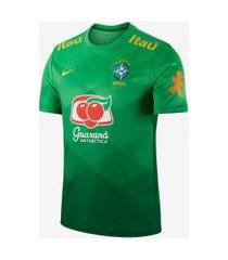 camisa pré-jogo nike brasil masculina