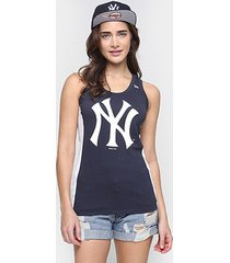 camiseta regata new era mlb new york yankees feminina