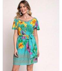 vestido bisô curto floral feminino - feminino