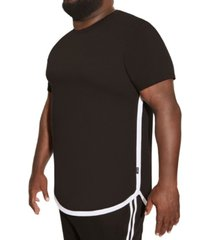 mvp collections big and tall rose screen hi-lo tee