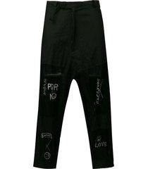 barbara bologna sheer panel trousers - black