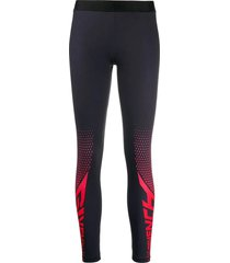 two tone leggings black/red