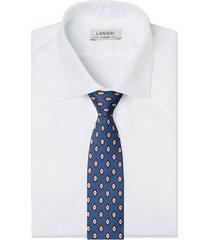 cravatta su misura, lanieri, business blu, quattro stagioni