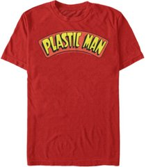fifth sun dc men's plastic man text logo short sleeve t-shirt