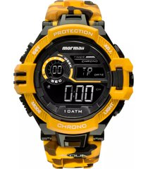 relógio mormaii digital acqua mo11348l amarelo camo