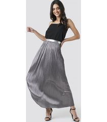 rut&circle nina long skirt - silver