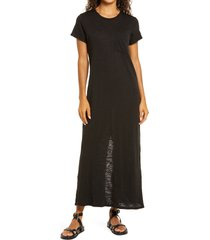 atm anthony thomas melillo maxi t-shirt dress, size small in black at nordstrom