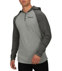 hurley men's colorblocked thermal hoodie