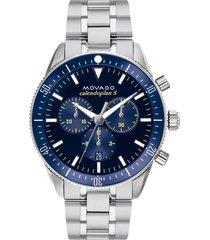 movado heritage chronograph bracelet watch, 42mm